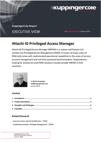 KuppingerCole Executive View on Privileged Access Manager